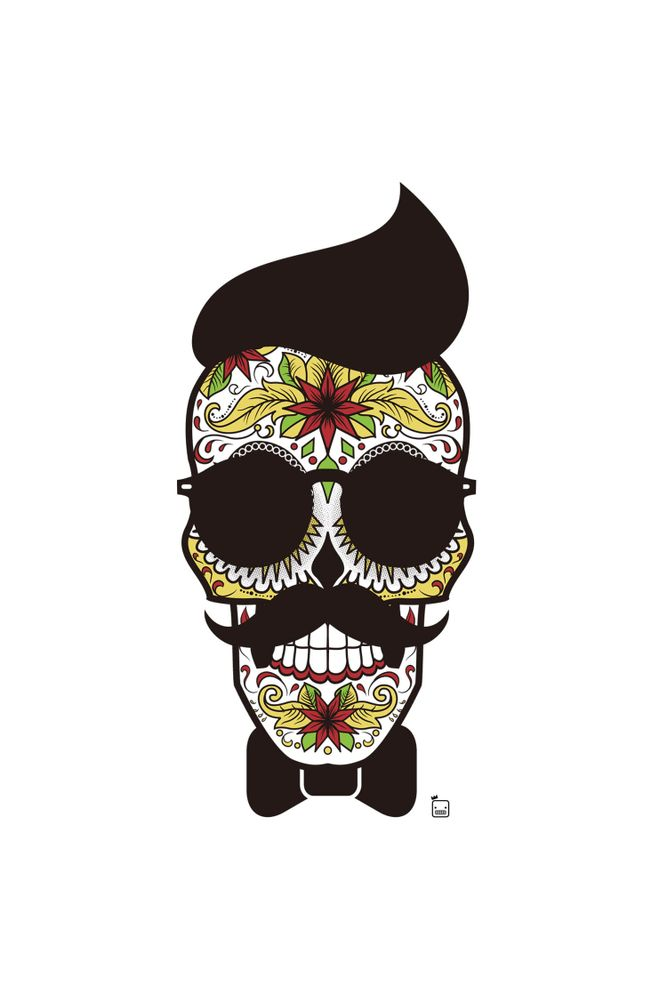 Camiseta-Caveira-Mexicana-masculina-estampa