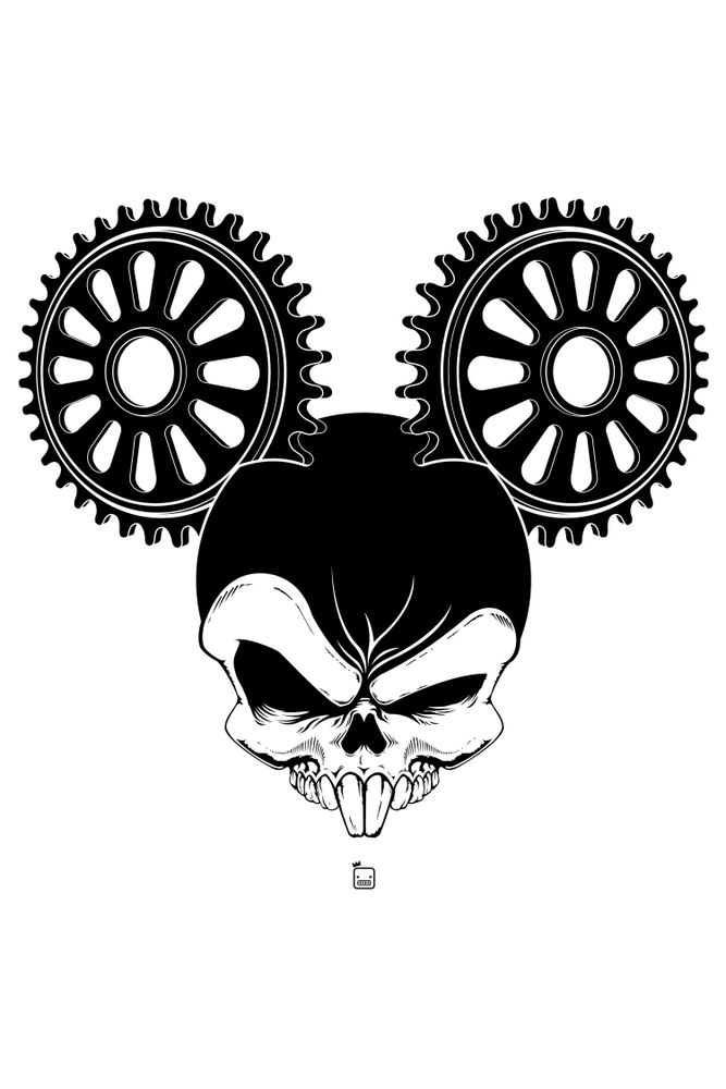 Camiseta-Caveira-Mickey-masculina-estampa