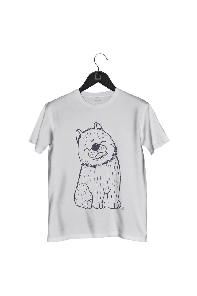 Camiseta-One-Dog-masculina-branca