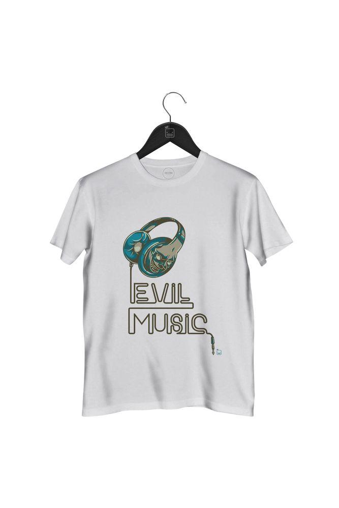 Camiseta-Evil-Music-masculina-branca