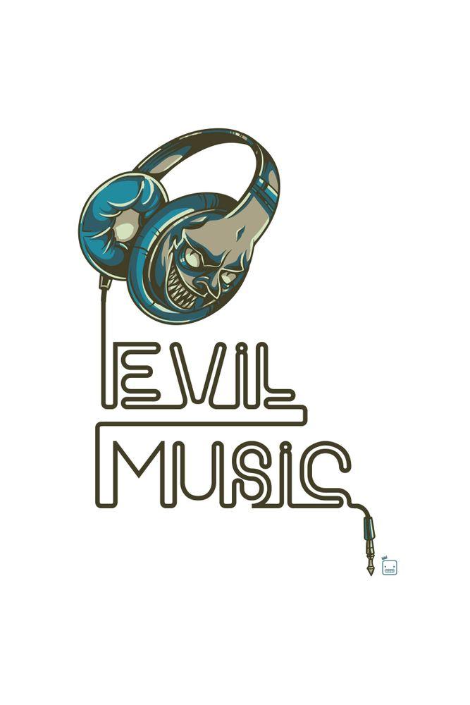 Camiseta-Evil-Music-masculina-estampa