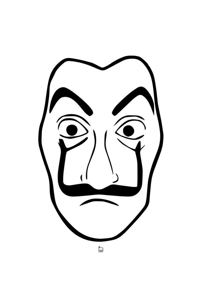 Camiseta-Mascara-Dali-masculina-estampa