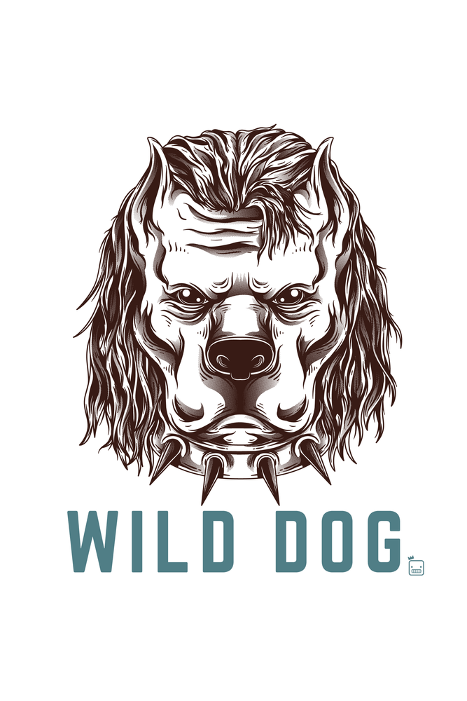 Camiseta-Wild-Dog-masculina-estampa