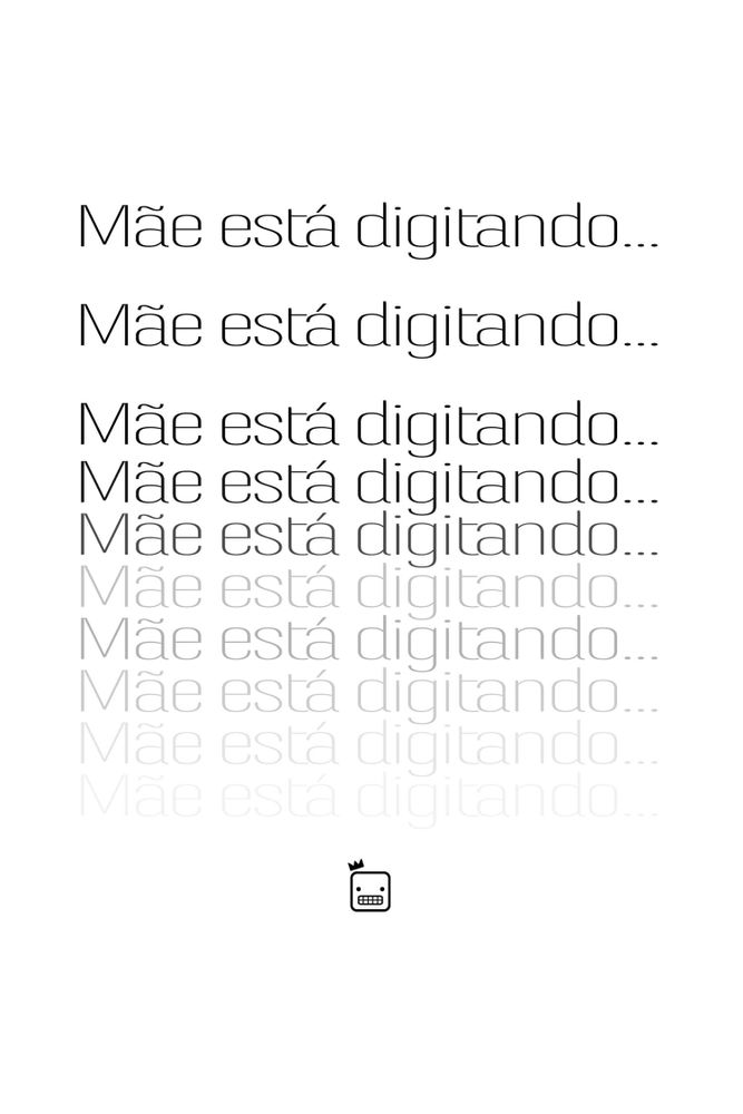 Camiseta-Mae-Esta-Digitando...-masculina-estampa