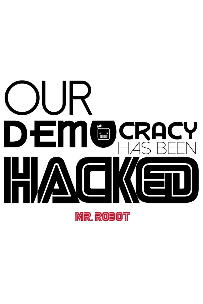 Camiseta-Our-Democracy-Has-Been-Hacked-Mr-Robot-masculina-estampa