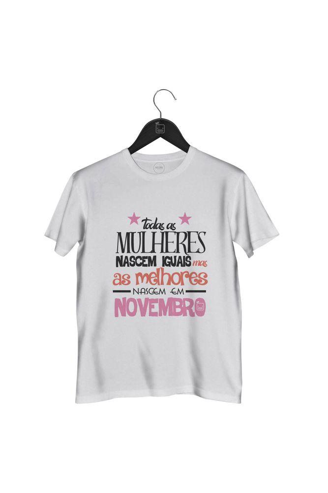 Camiseta-As-Melhores-Mulheres-Nascem-Em-Novembro-masculina-branca