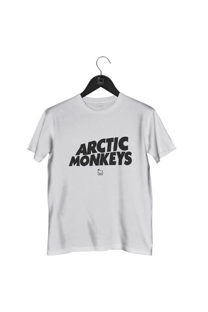 Camiseta-Arctic-Monkeys-masculina-branca