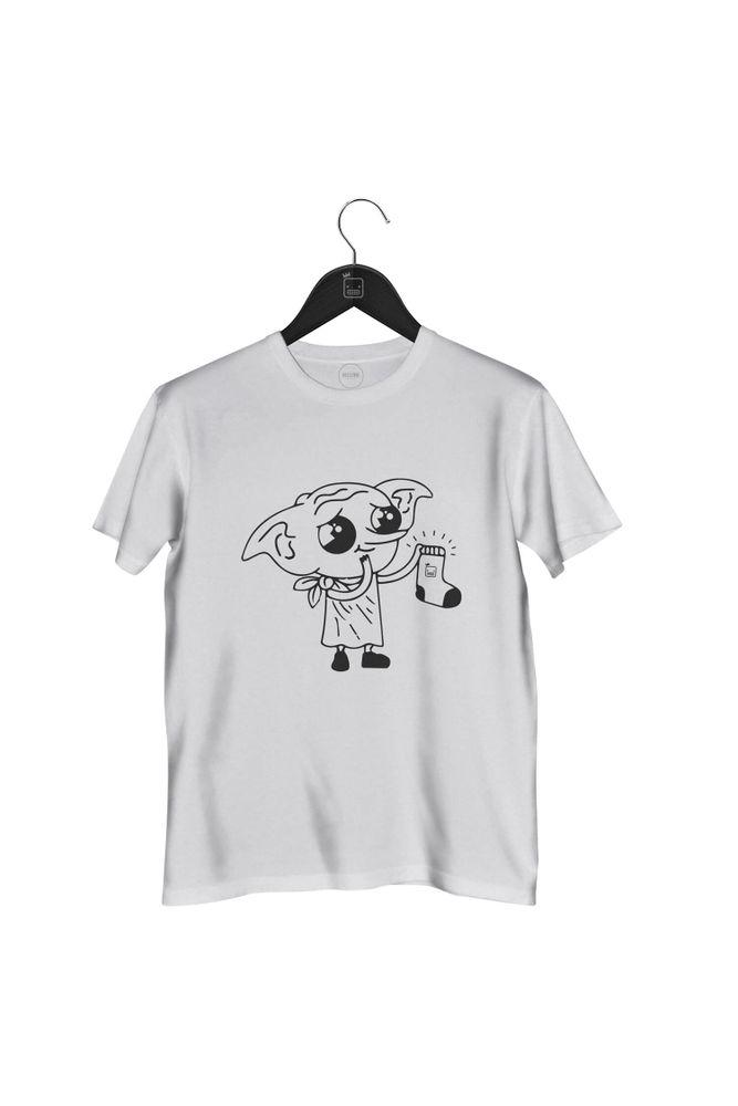Camiseta-Dobby-Harry-Potter-masculina-branca