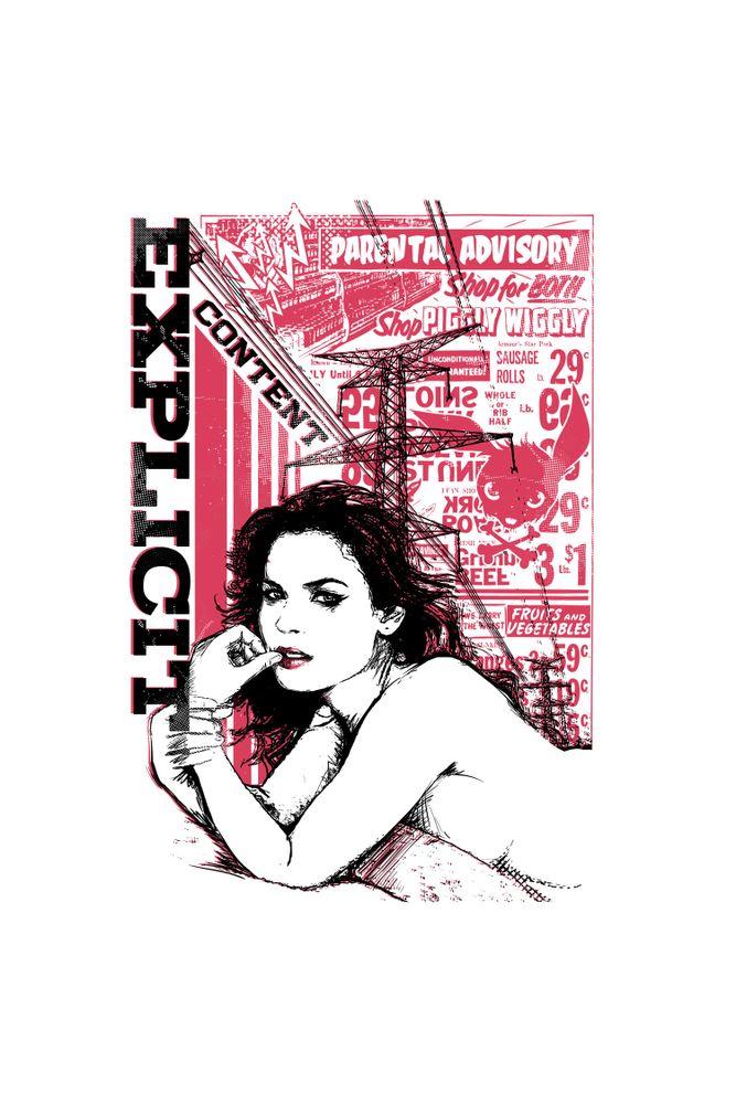 Camiseta-Explicit-Content-masculina-estampa