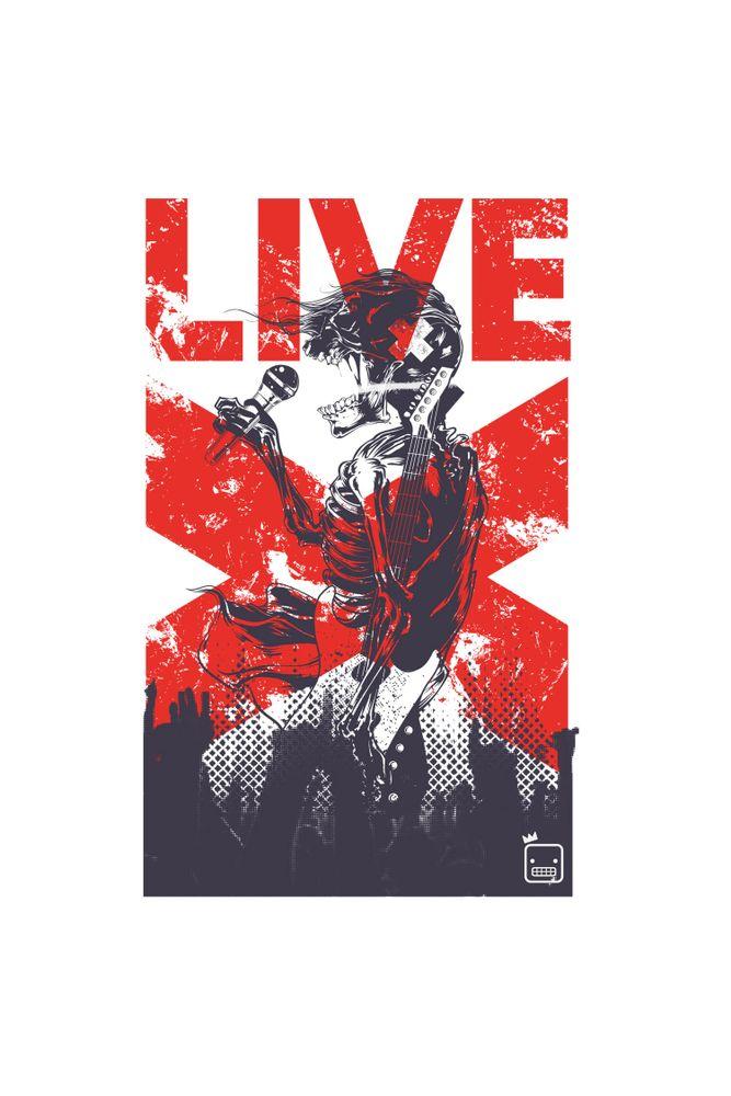 Camiseta-Live-Rock-masculina-estampa