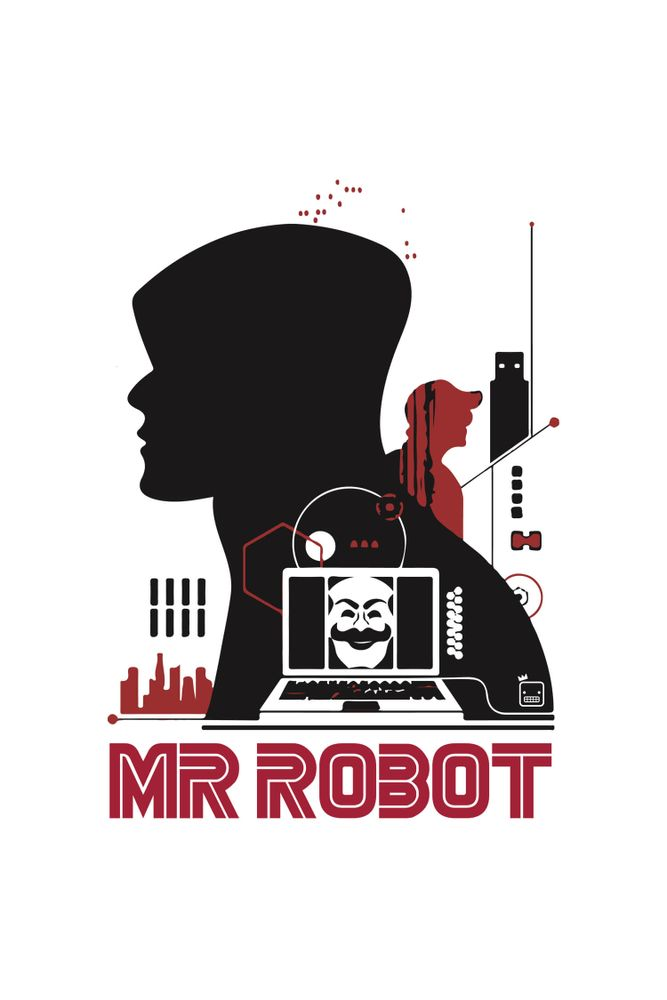 Camiseta-Mr-Robot-Cartas-masculina-estampa