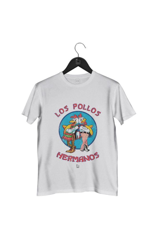 Camiseta-Los-Pollos-Hermanos-masculina-branca