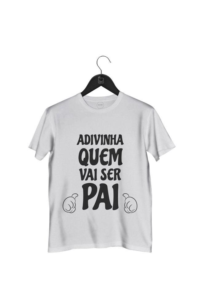 Camiseta-Adivinha-Quem-Vai-Ser-Pai-masculina-branca