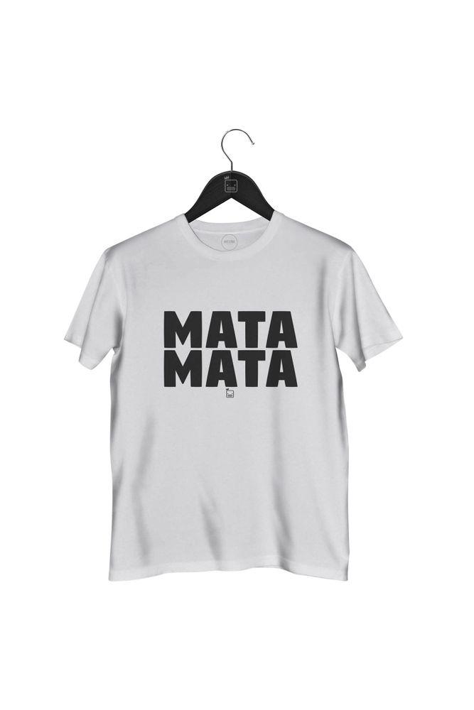 Camiseta-Mata-Mata-masculina-branca