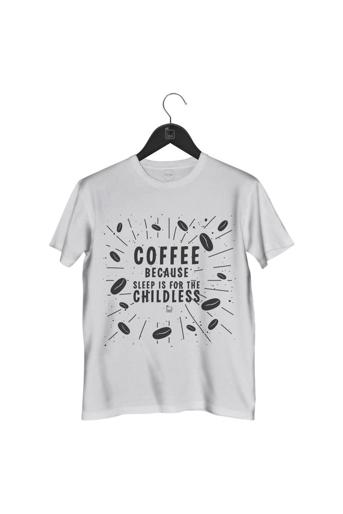 Camiseta-Coffe-Because-Sleep-Is-For-The-Childless-masculina-branca