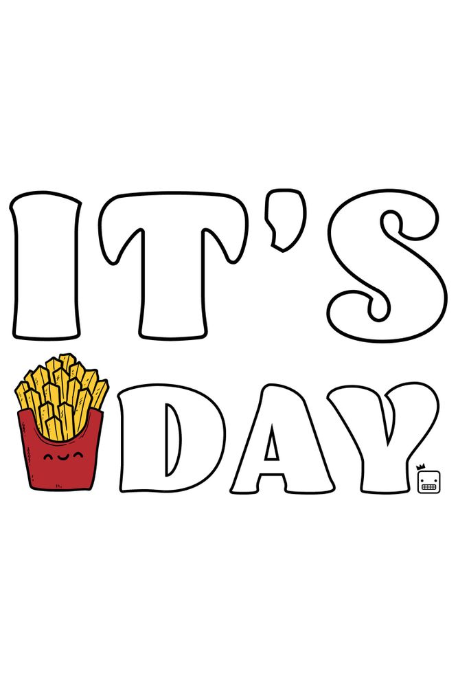Camiseta-Its-Fries-Day-masculina-estampa