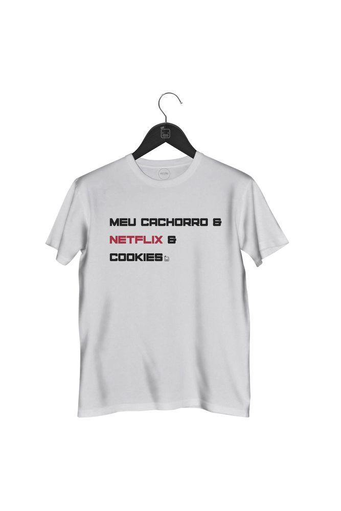 Camiseta-Meu-Cachorro-_-Netflix-_-Cookies-masculina-branca