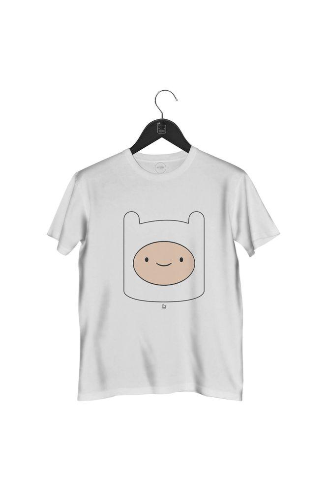 camiseta-finn-hora-da-aventura-masculina-branca