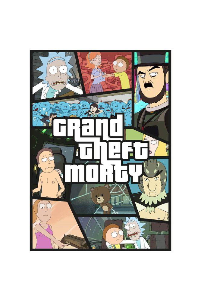 mestre-das-camiseta-grand-gheft-rick-and-morty