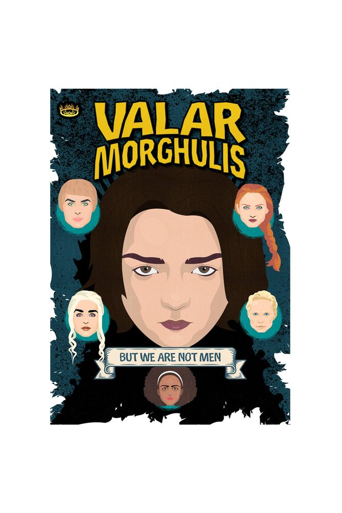 mestre-das-camiseta-arya-stark-valar-morghulis-but-we-are-not-men